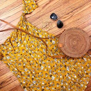 Boho Floral Mossimo Dress - Medium